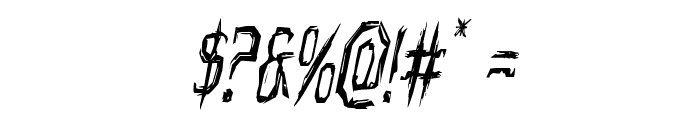 Horroroid Condensed Italic Font OTHER CHARS