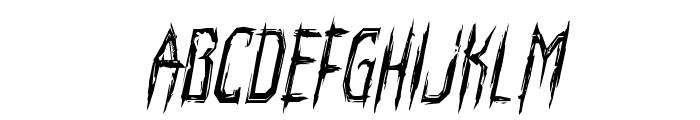 Horroroid Condensed Italic Font LOWERCASE