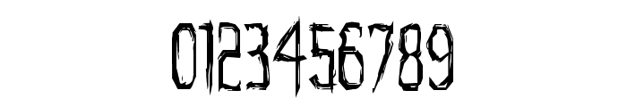 Horroroid Condensed Font OTHER CHARS