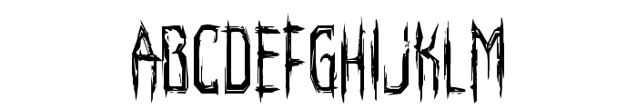 Horroroid Condensed Font LOWERCASE