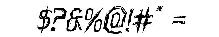 Horroroid Expanded Italic Font OTHER CHARS