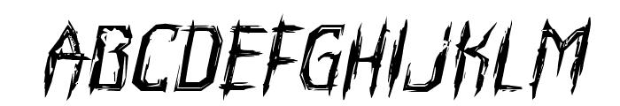 Horroroid Expanded Italic Font LOWERCASE