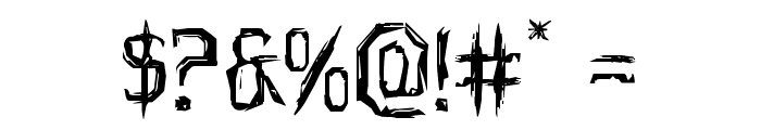 Horroroid Expanded Font OTHER CHARS