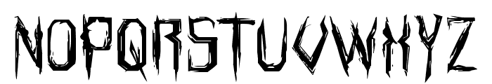 Horroroid Expanded Font UPPERCASE
