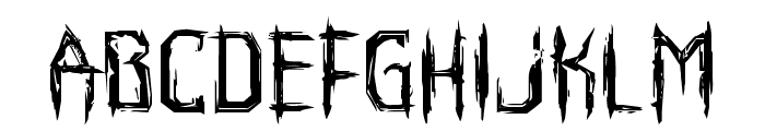 Horroroid Expanded Font LOWERCASE