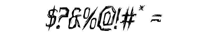 Horroroid Italic Font OTHER CHARS