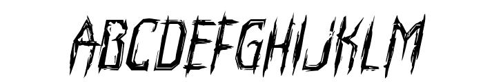 Horroroid Italic Font LOWERCASE