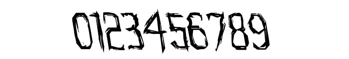 Horroroid Leftalic Font OTHER CHARS