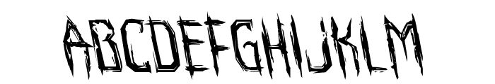 Horroroid Leftalic Font UPPERCASE