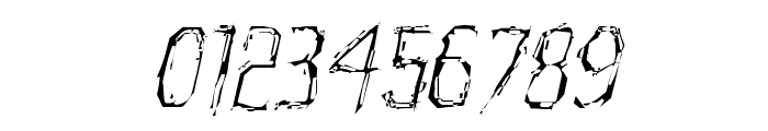 Horroroid Light Italic Font OTHER CHARS