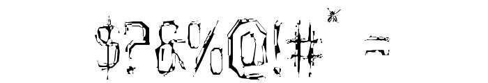 Horroroid Light Font OTHER CHARS