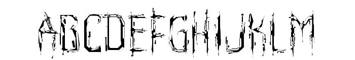 Horroroid Light Font LOWERCASE