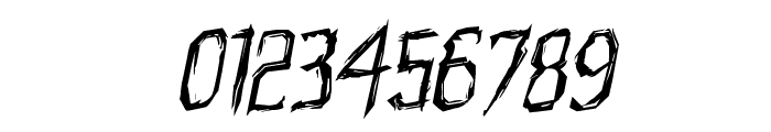 Horroroid Rotalic Font OTHER CHARS