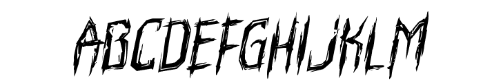 Horroroid Rotalic Font LOWERCASE