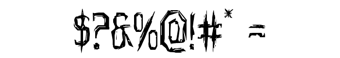 Horroroid Staggered Font OTHER CHARS