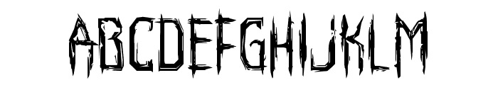 Horroroid Staggered Font UPPERCASE