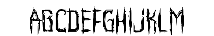 Horroroid Staggered Font LOWERCASE