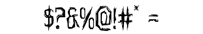 Horroroid Font OTHER CHARS
