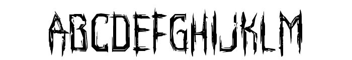 Horroroid Font LOWERCASE
