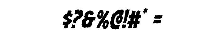 Horroween Condensed Italic Font OTHER CHARS