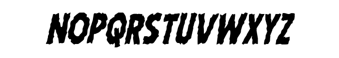 Horroween Condensed Italic Font UPPERCASE
