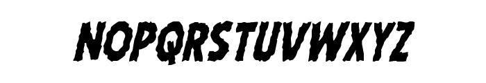 Horroween Condensed Italic Font LOWERCASE