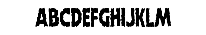Horroween Condensed Font UPPERCASE