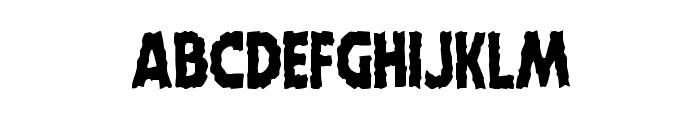 Horroween Condensed Font LOWERCASE