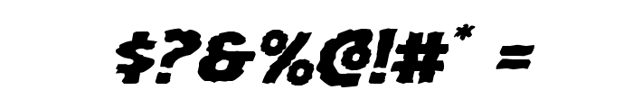 Horroween Expanded Italic Font OTHER CHARS