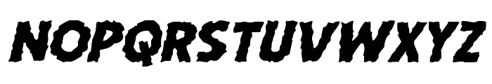 Horroween Expanded Italic Font UPPERCASE