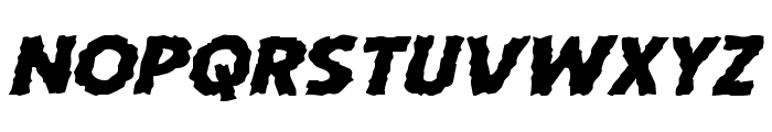 Horroween Expanded Italic Font LOWERCASE