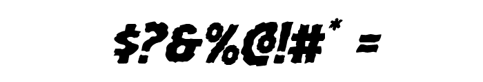 Horroween Italic Font OTHER CHARS