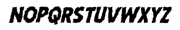 Horroween Italic Font UPPERCASE