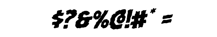 Horroween Rotalic Font OTHER CHARS