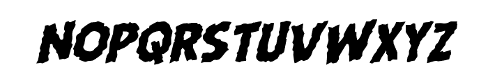 Horroween Rotalic Font LOWERCASE