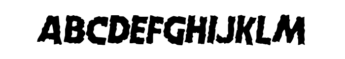Horroween Rotated 2 Font LOWERCASE