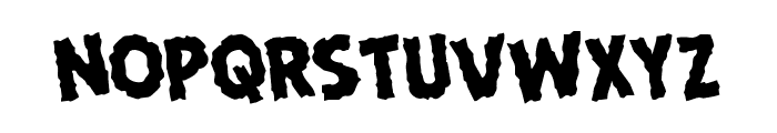 Horroween Rotated Font LOWERCASE