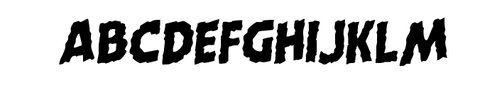 Horroween Staggered Rotalic Font UPPERCASE