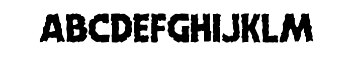 Horroween Staggered Font UPPERCASE