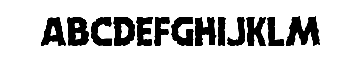 Horroween Staggered Font LOWERCASE