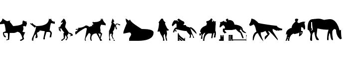 Horses 1 Font UPPERCASE