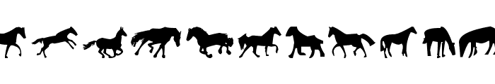 Horses 1 Font LOWERCASE