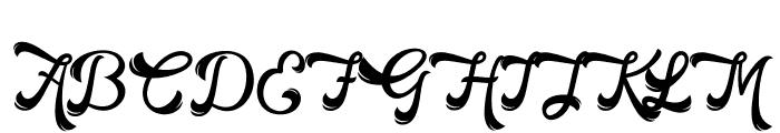 HorstailFreeRegular Font UPPERCASE