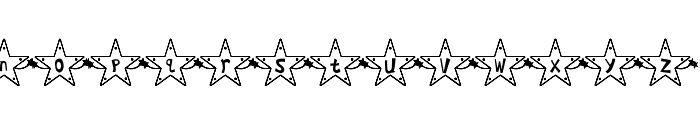 Hoshi Font Font LOWERCASE