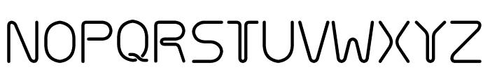 Hosobiki Font UPPERCASE
