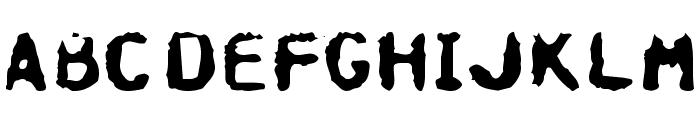 Hospital Font UPPERCASE