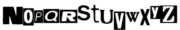 Hostage Font UPPERCASE