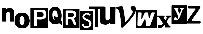 Hostage Font LOWERCASE