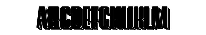 Hostil Shadow Two Font UPPERCASE