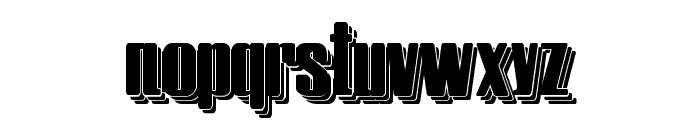 Hostil Shadow Two Font LOWERCASE